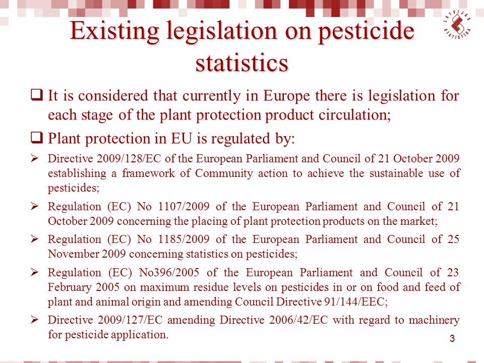 Indicator characterising intensity of pesticide use  The most obvious indicator characterising intensity of pesticide use is quantity of active substances applied per hectare of cultivated area.
