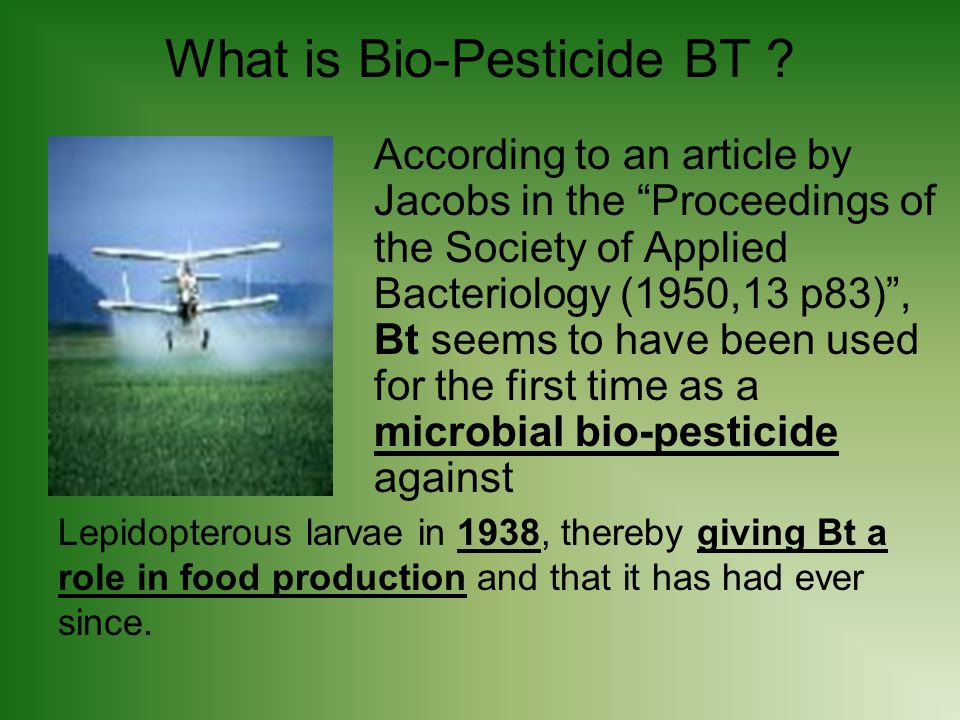 What is Bio-Pesticide BT .