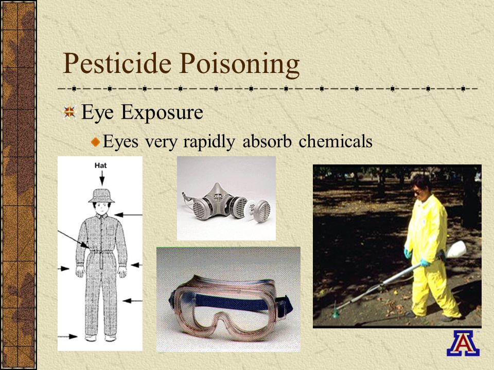 Pesticide Poisoning Eye Exposure Eyes very rapidly absorb chemicals
