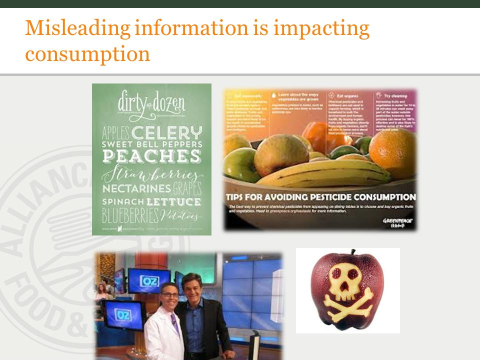 Misleading information is impacting consumption