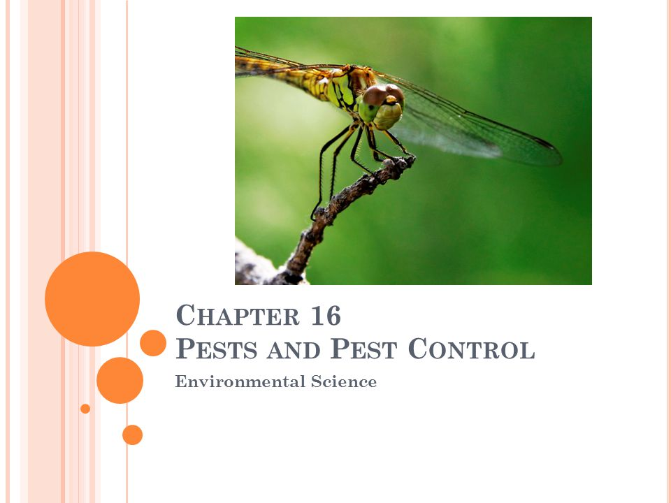 C HAPTER 16 P ESTS AND P EST C ONTROL Environmental Science