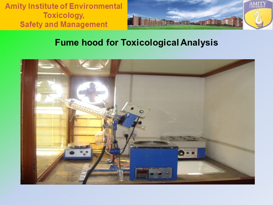 Fume hood for Toxicological Analysis Amity Institute of Environmental Toxicology, Safety and Management