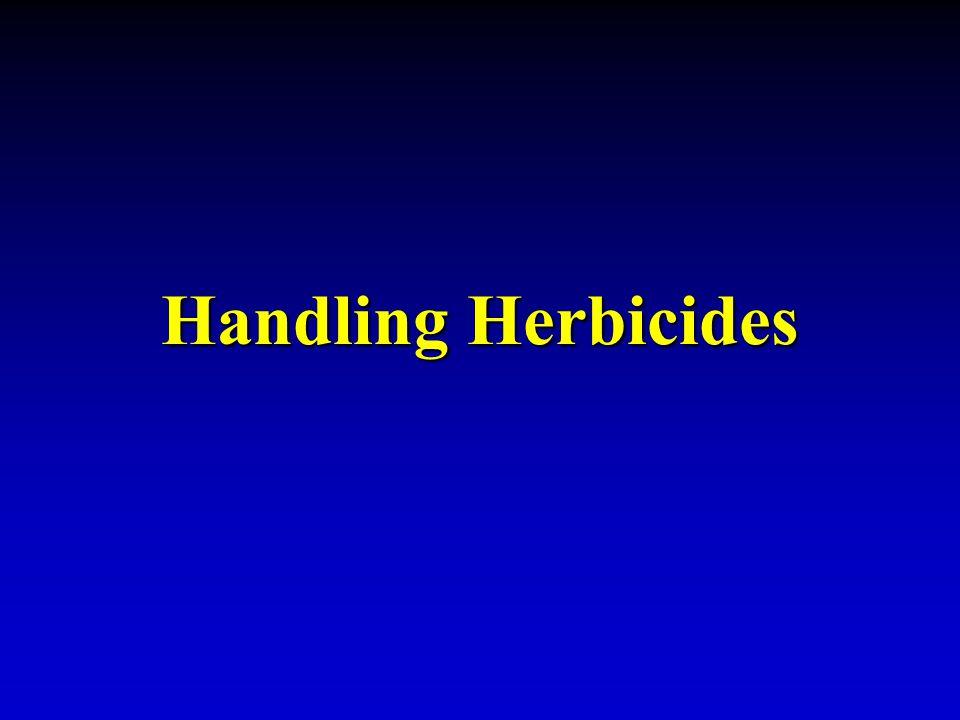 Handling Herbicides