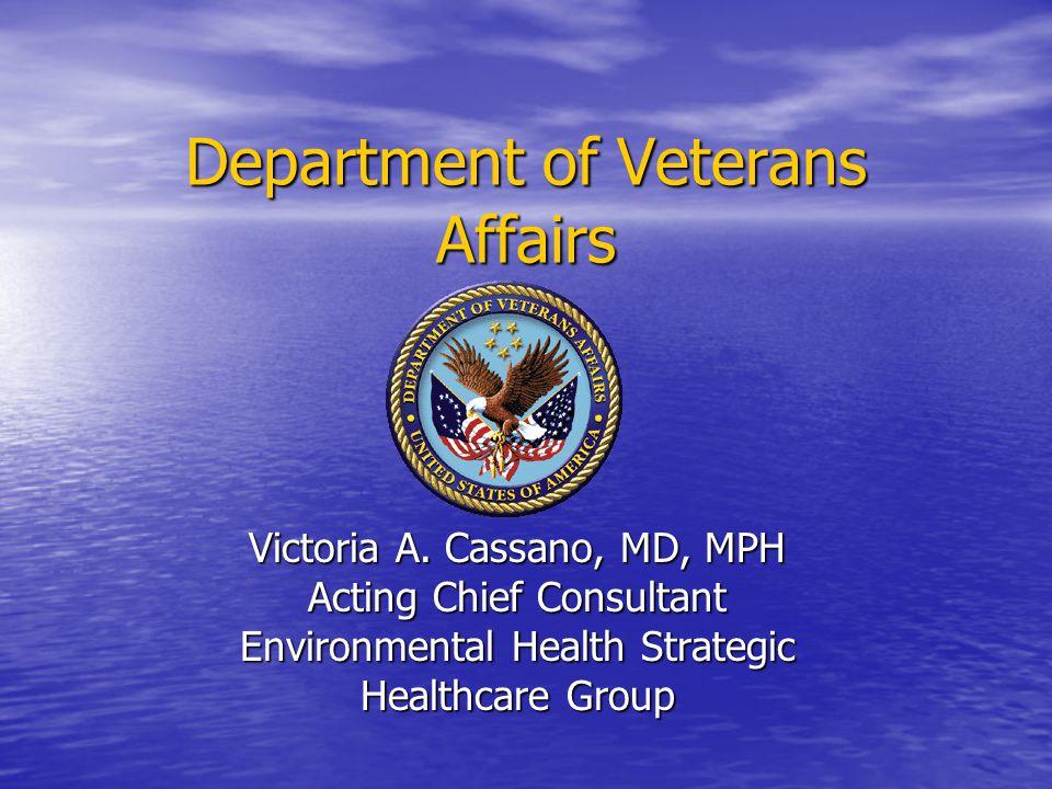 Department of Veterans Affairs Victoria A.