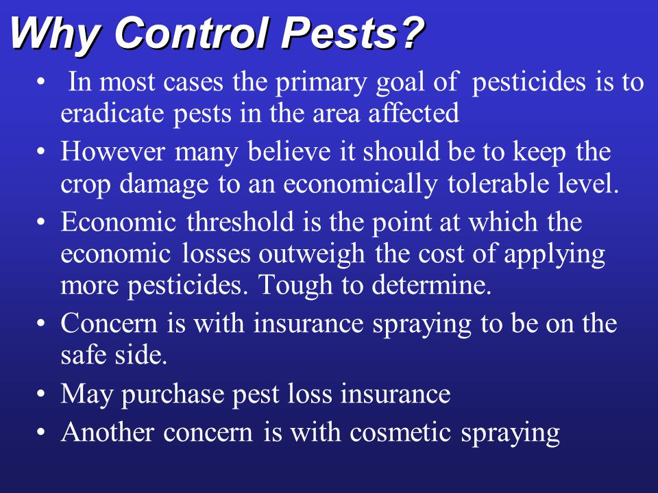 Why Control Pests.