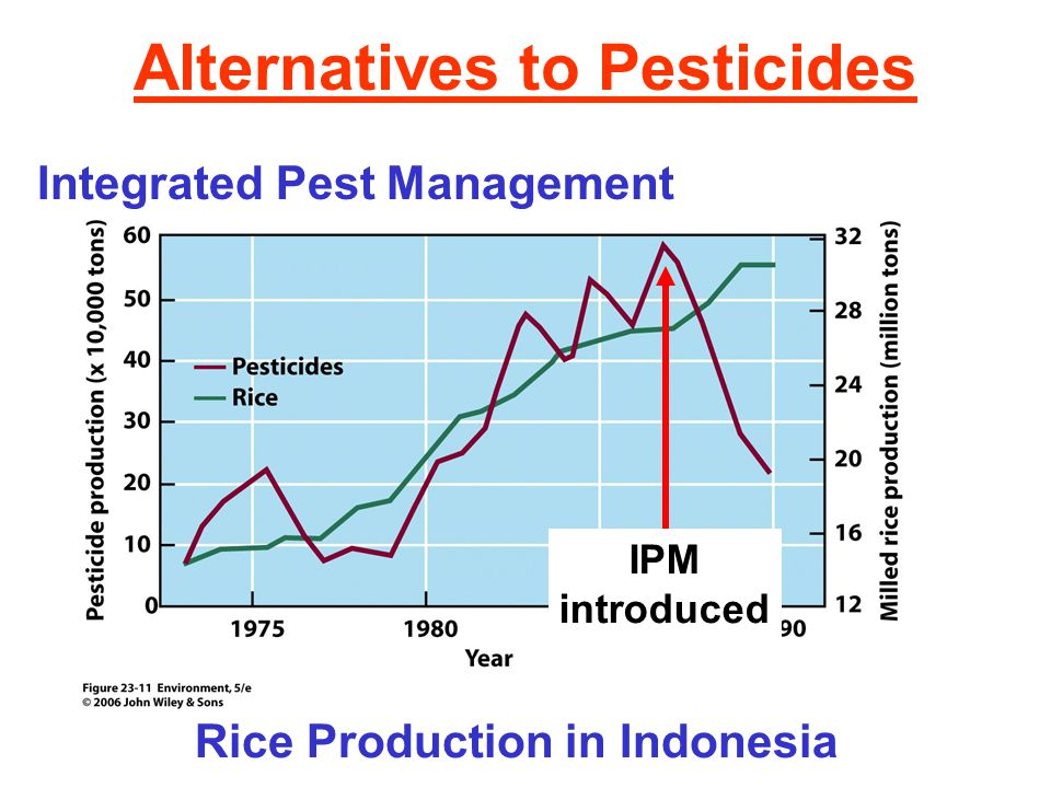 Alternatives to Pesticides Integrated Pest Management Rice Production in Indonesia IPM introduced
