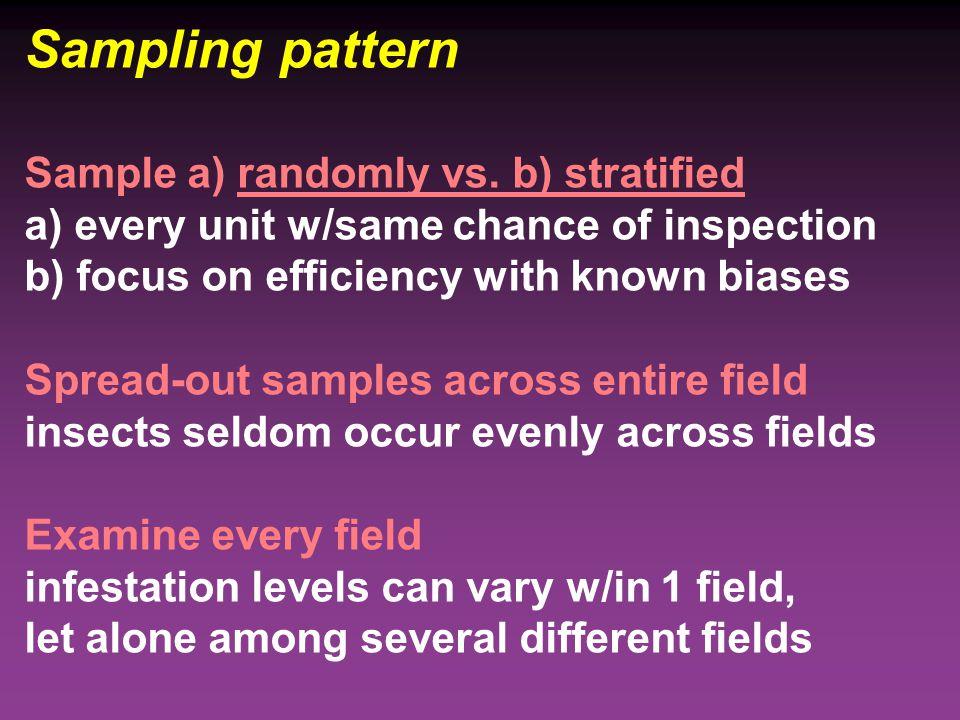 Sampling pattern Sample a) randomly vs.