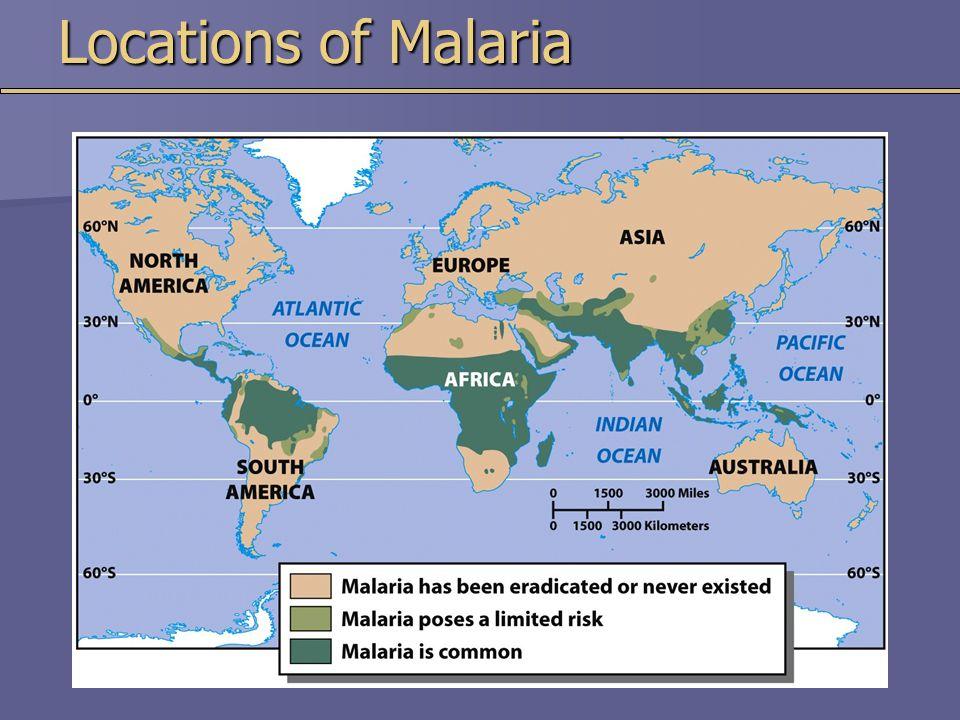Locations of Malaria