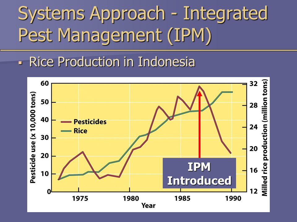 IPM Introduced Systems Approach - Integrated Pest Management (IPM)  Rice Production in Indonesia