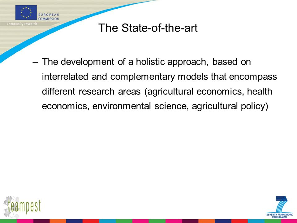 The State-of-the-art –The development of a holistic approach, based on interrelated and complementary models that encompass different research areas (
