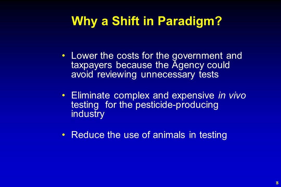 8 Why a Shift in Paradigm.