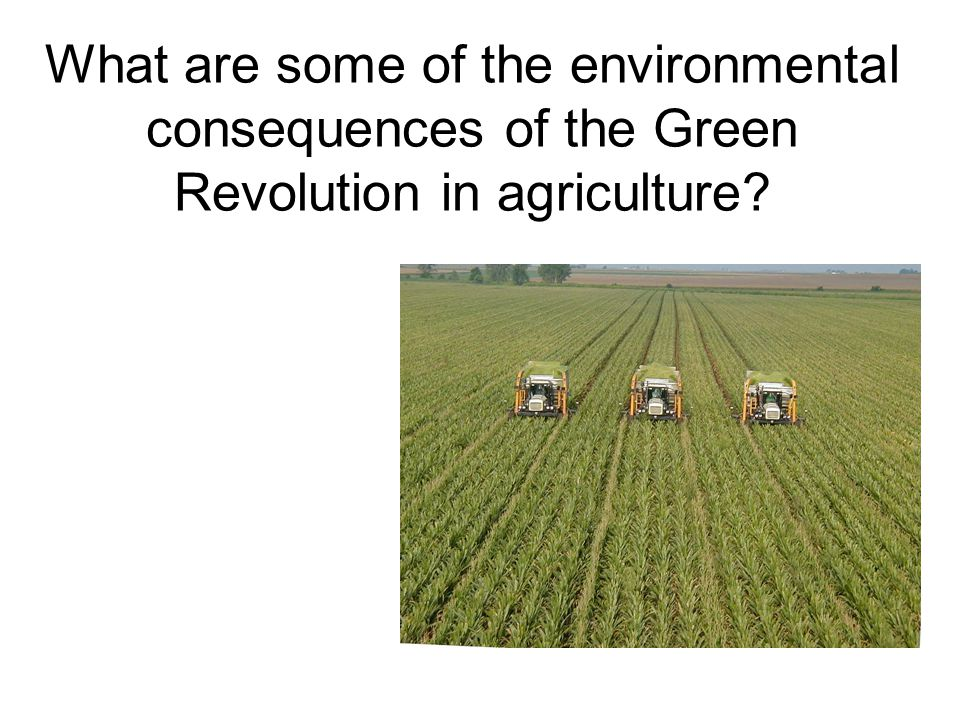 What are some of the environmental consequences of the Green Revolution in agriculture?