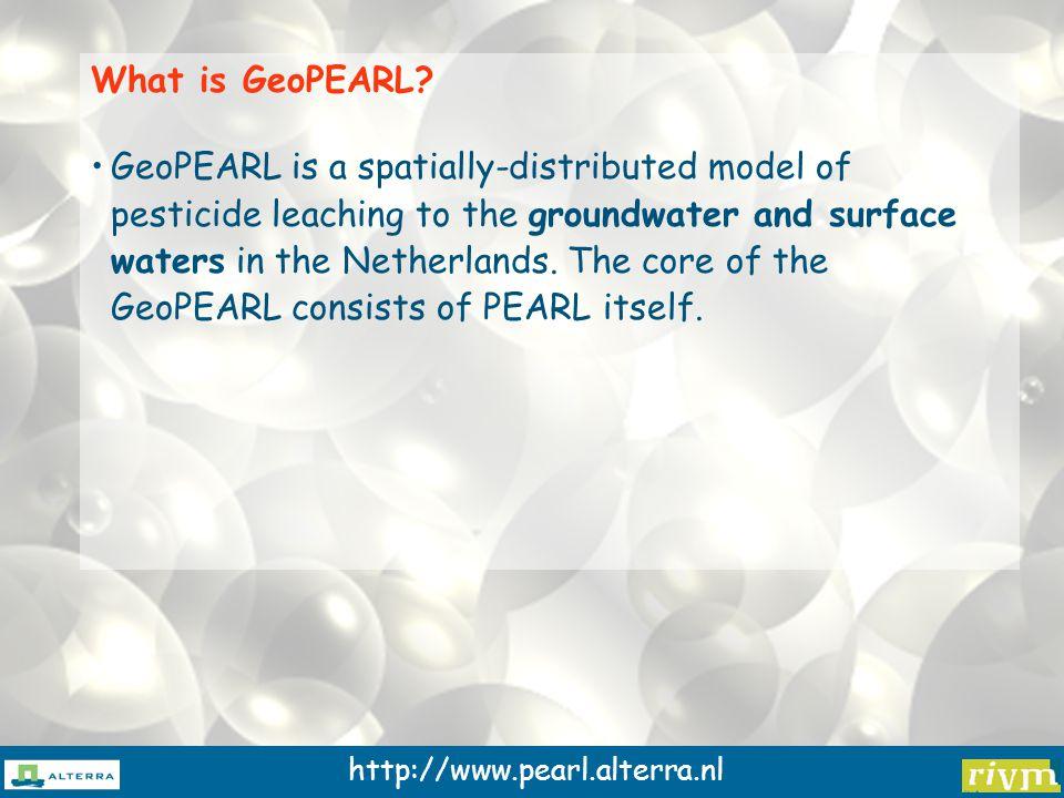 http://www.pearl.alterra.nl The PEARL model - a 1D-column