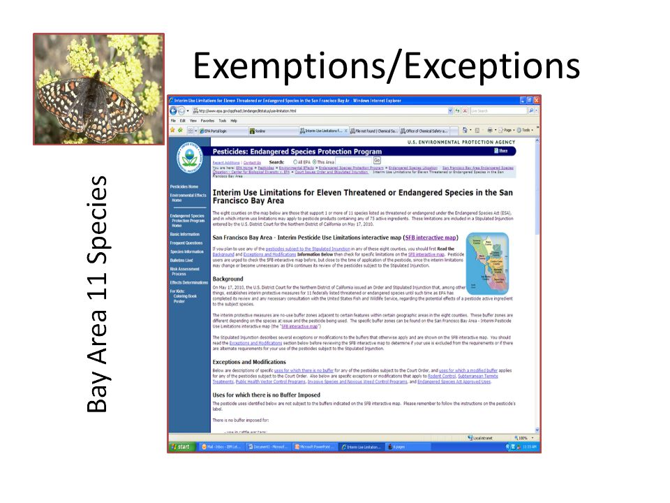 Exemptions/Exceptions