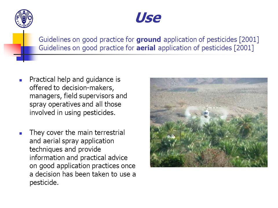 Practical help and guidance is offered to decision-makers, managers, field supervisors and spray operatives and all those involved in using pesticides