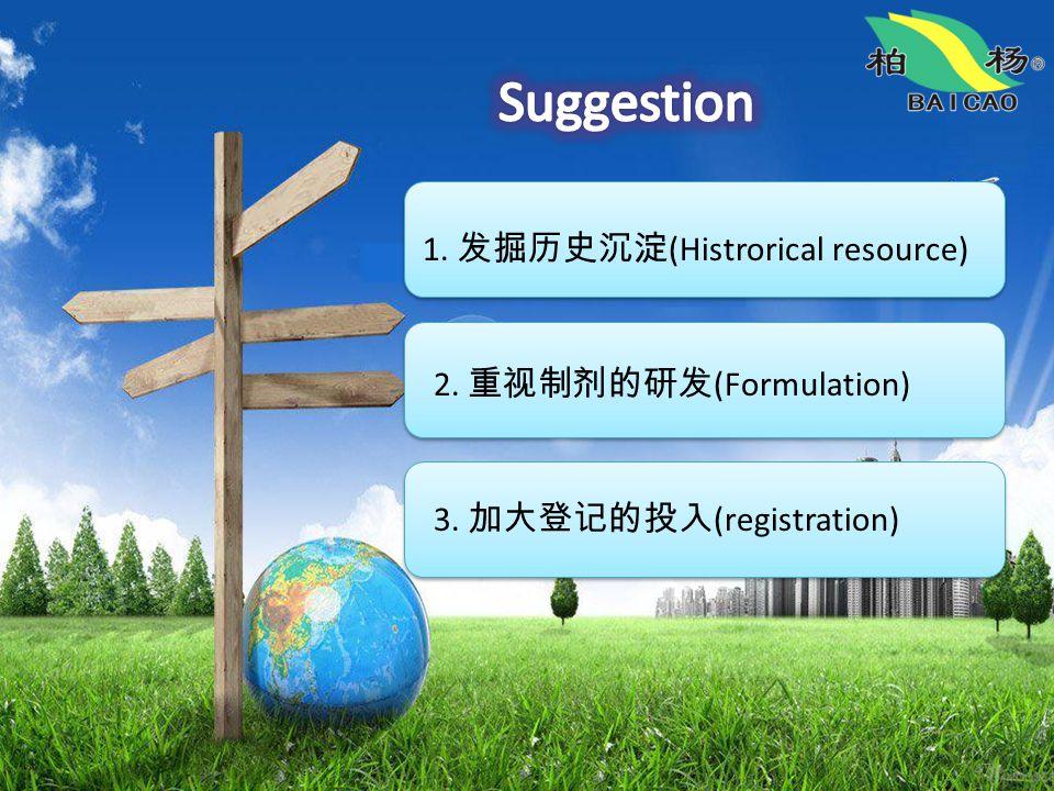 47 1. 发掘历史沉淀 (Histrorical resource) 2. 重视制剂的研发 (Formulation) 3. 加大登记的投入 (registration)