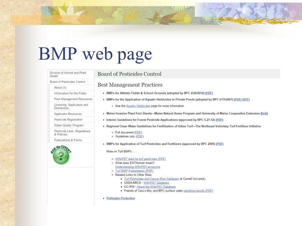 BMP web page