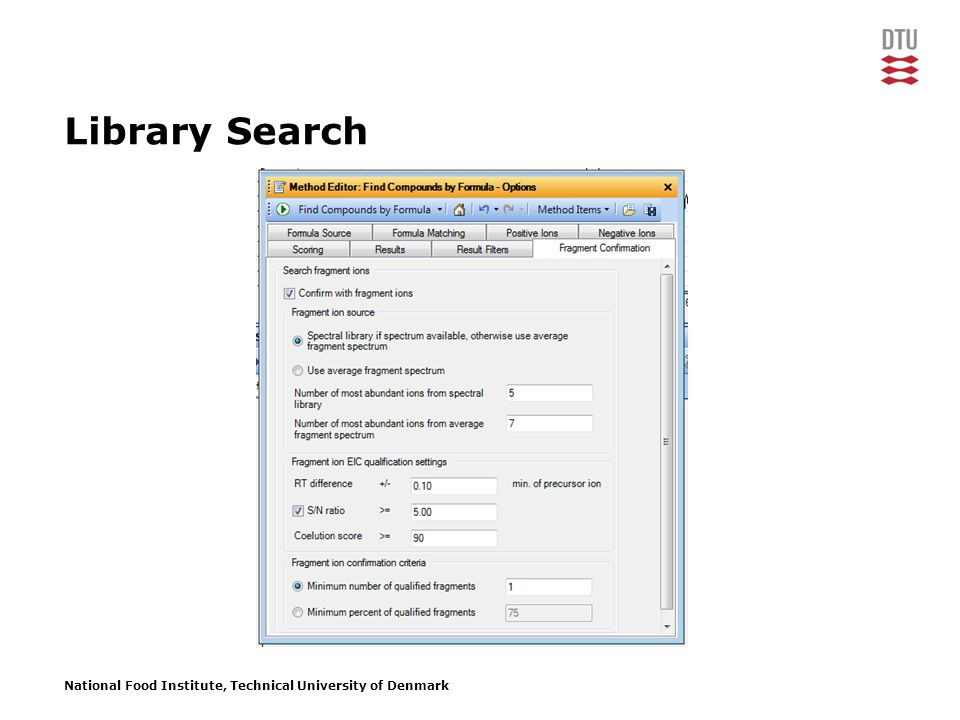 National Food Institute, Technical University of Denmark Library Search