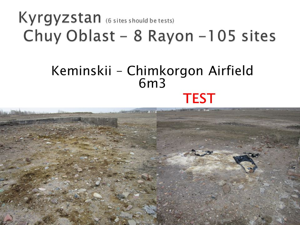 Keminskii – Chimkorgon Airfield 6m3 TEST