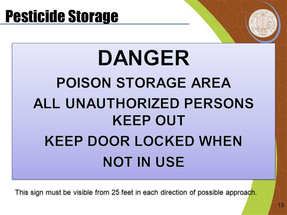 Pesticide Storage 15