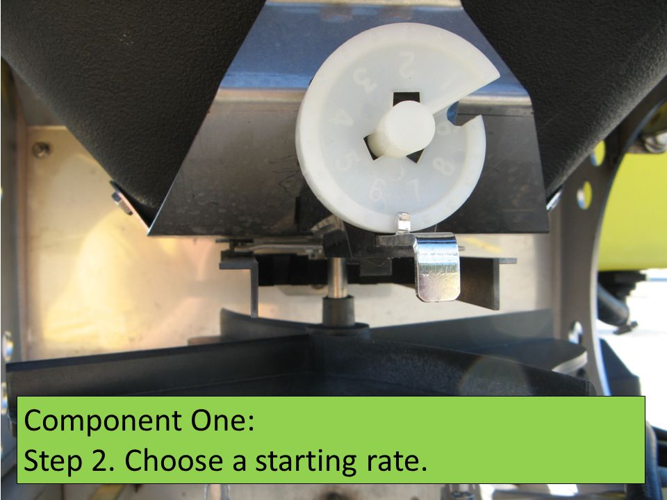 Component One: Step 2. Choose a starting rate.