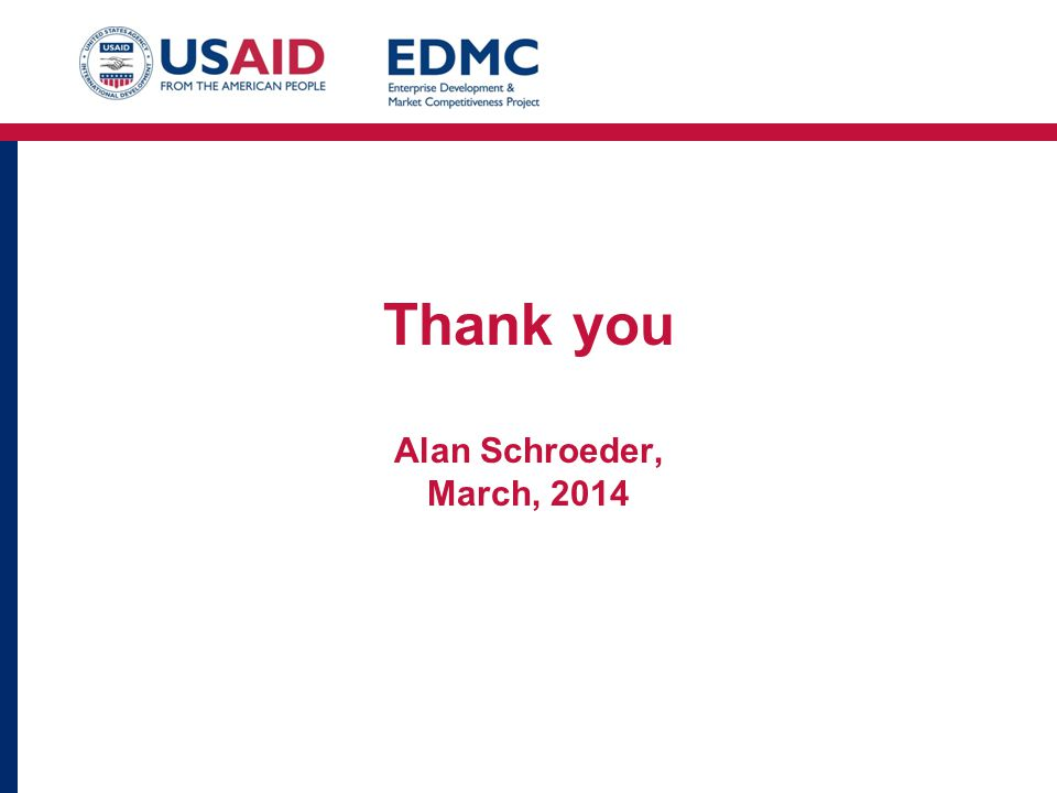 Thank you Alan Schroeder, March, 2014