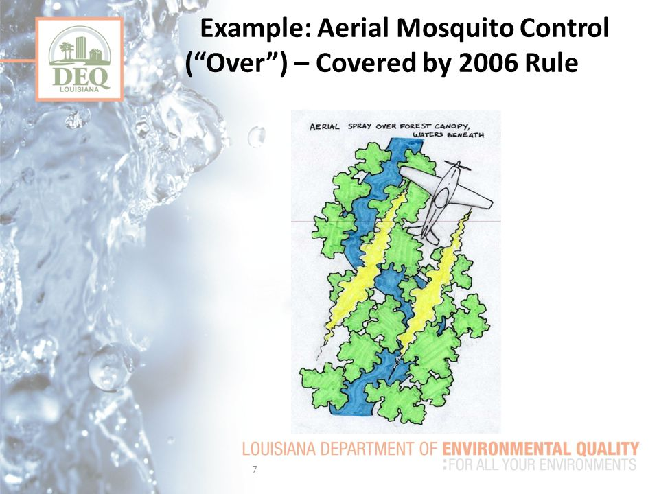 Example: Aerial Mosquito Control ( Over ) – Covered by 2006 Rule 7