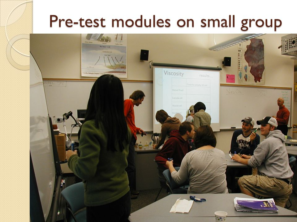 Pre-test modules on small group