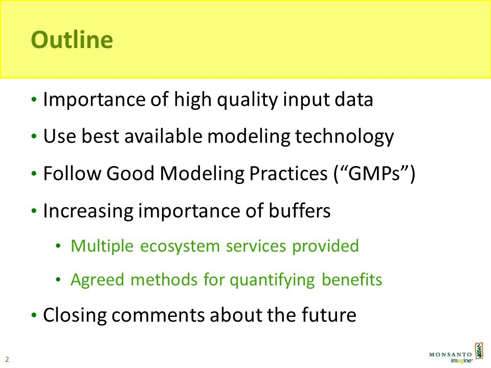 Additional Modeling Science Issues Challenges of modeling water and contaminant transport at edge-of-field water exit points Agree appropriate scales for watershed modeling, particularly in Regulatory contexts Alternatives to Nash-Sutcliffe (accuracy metric for hydrological models), such as Ehret & Zehe † Data needed for parameterization of buffer performance (more on this later in the talk) 13 † Hydrol.