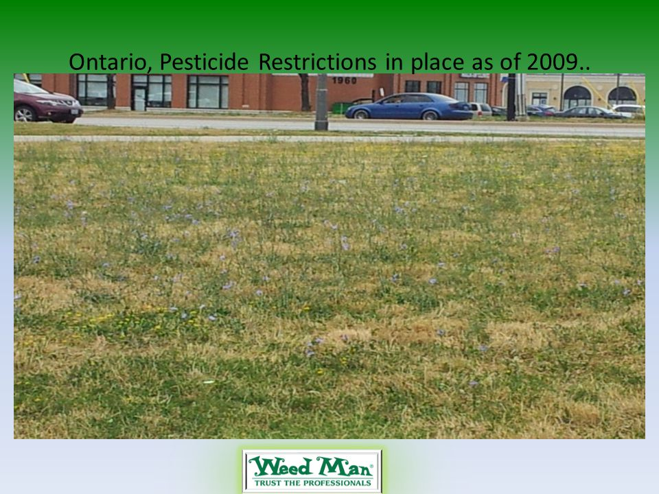 Ontario, Pesticide Restrictions in place as of 2009..