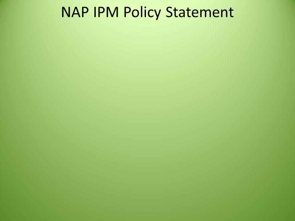 NAP IPM Policy Statement