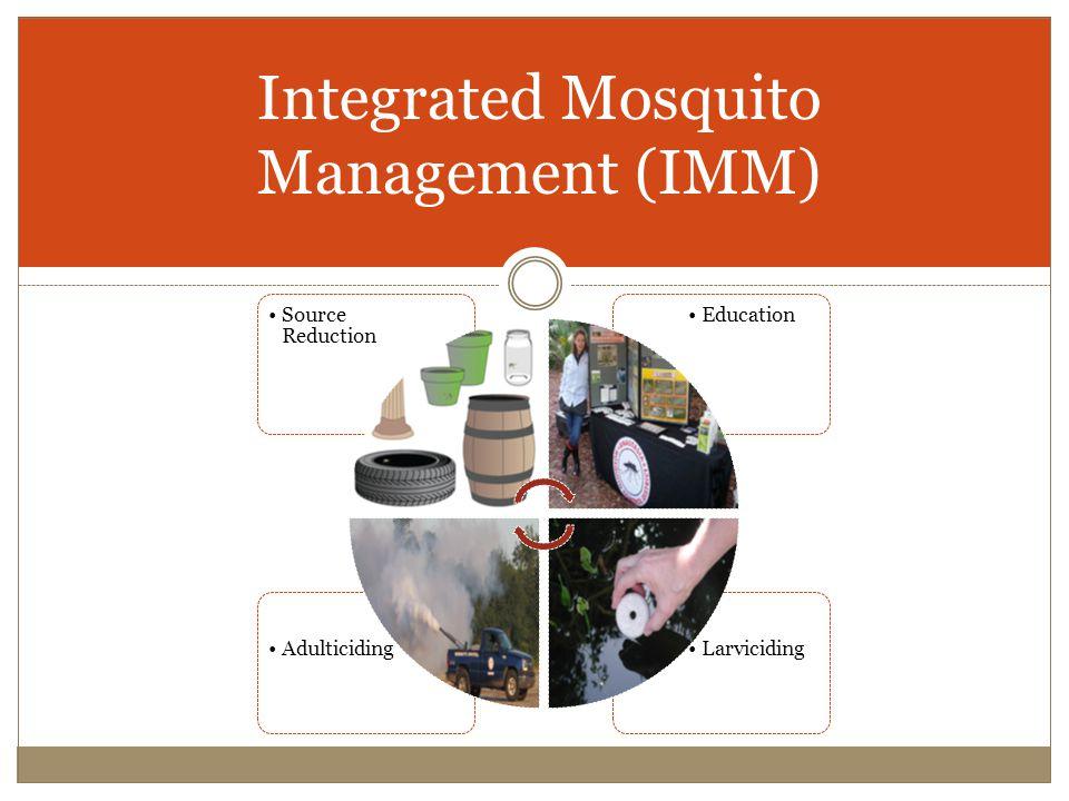 Integrated Mosquito Management (IMM) LarvicidingAdulticiding EducationSource Reduction