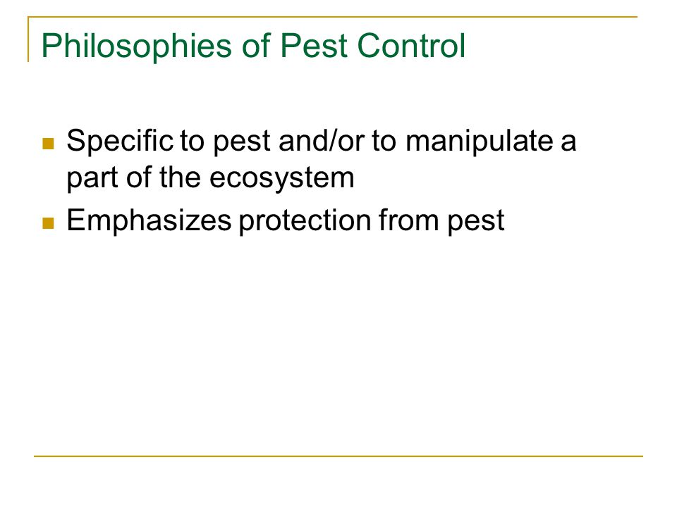Alternative Pest Control Methods Cultural control Control by natural enemies Genetic control Natural chemical control