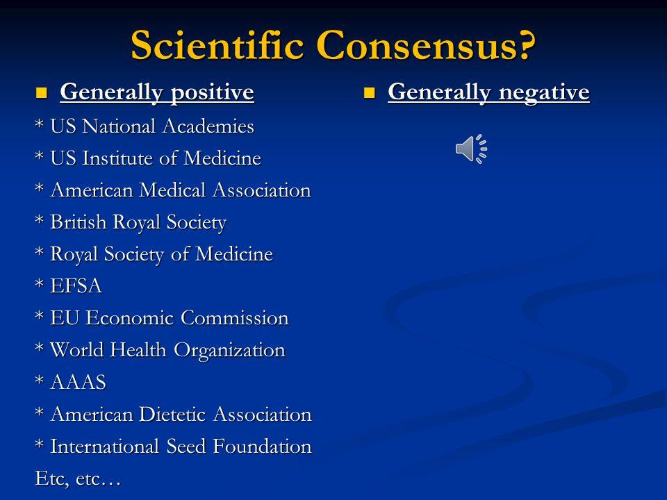 Scientific Consensus.