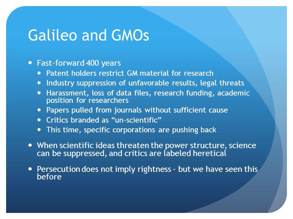Why Genetically Modify.