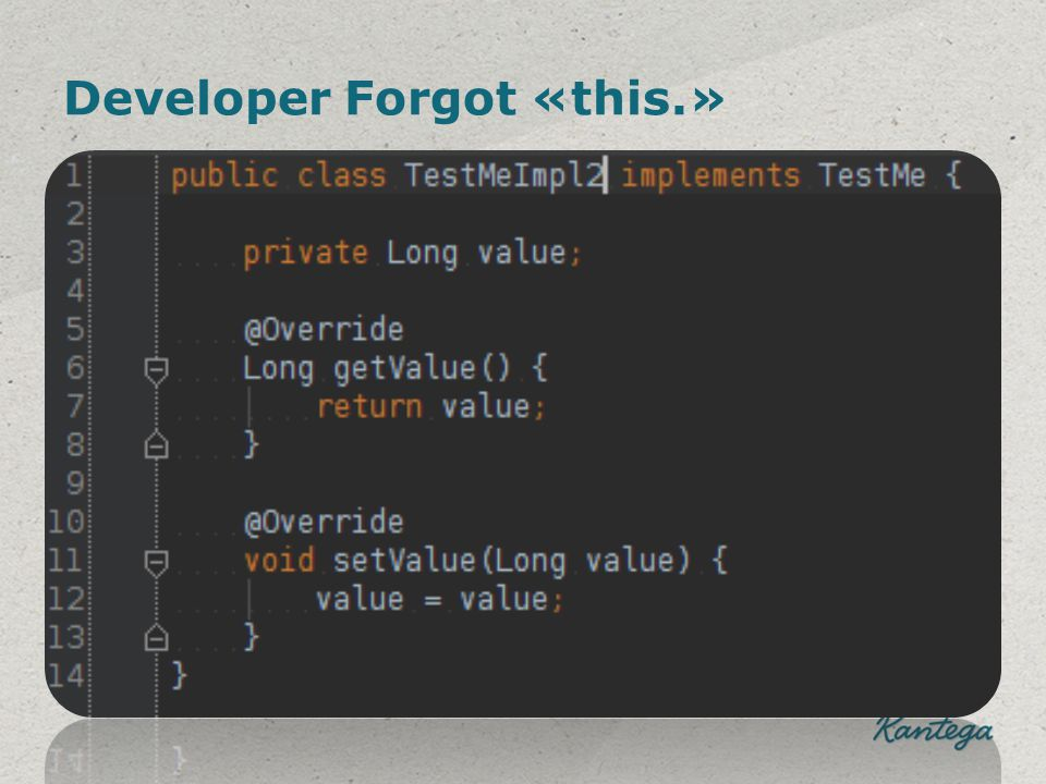 Developer Forgot «this.»