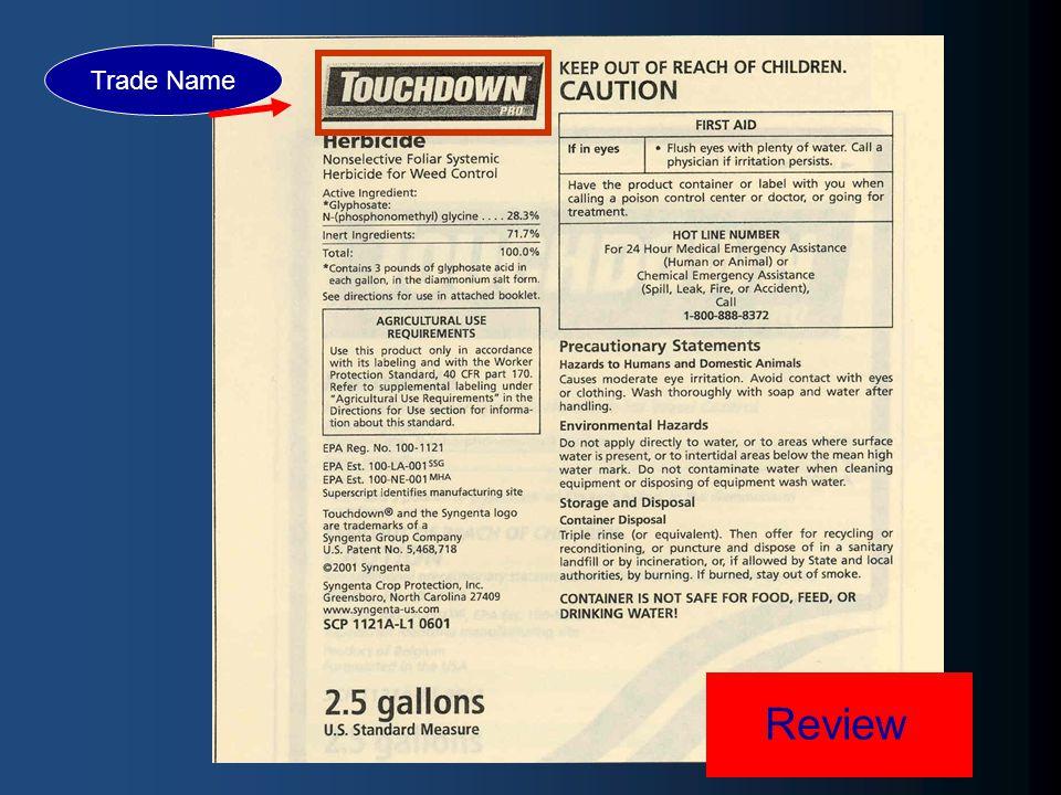 Review Trade Name