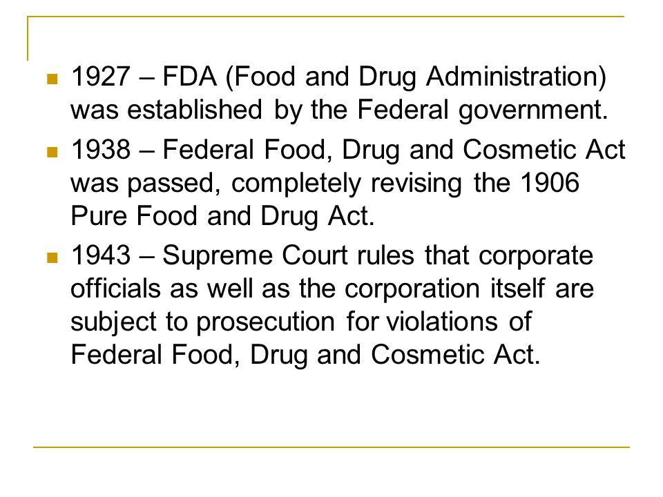1954 – The Pesticide Amendment was enacted, setting safe limits for pesticide residues on raw ag products.