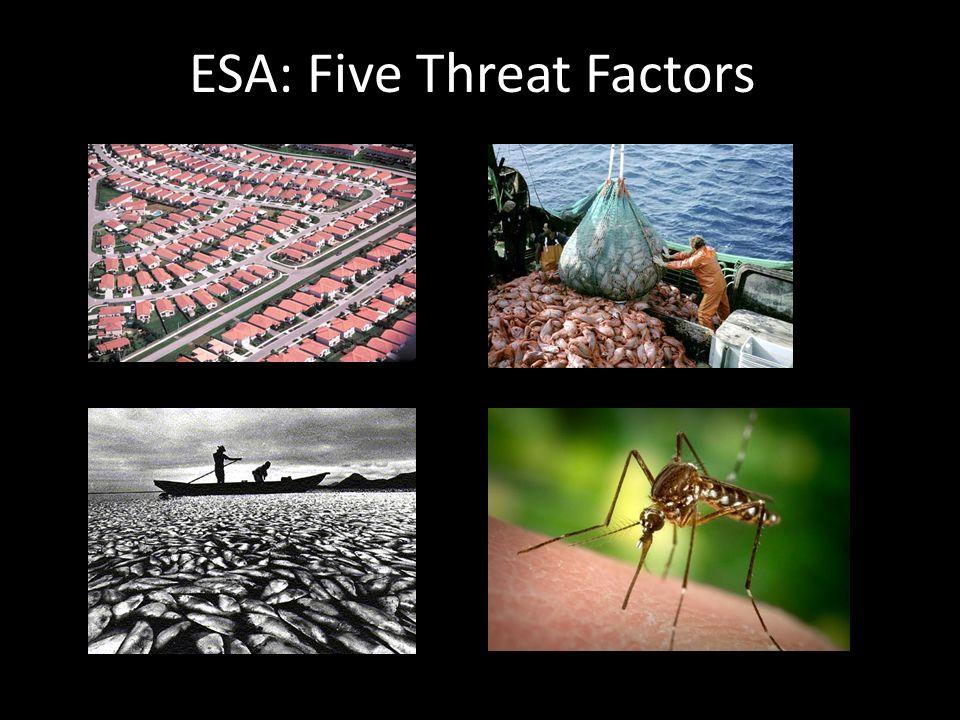 ESA: Five Threat Factors