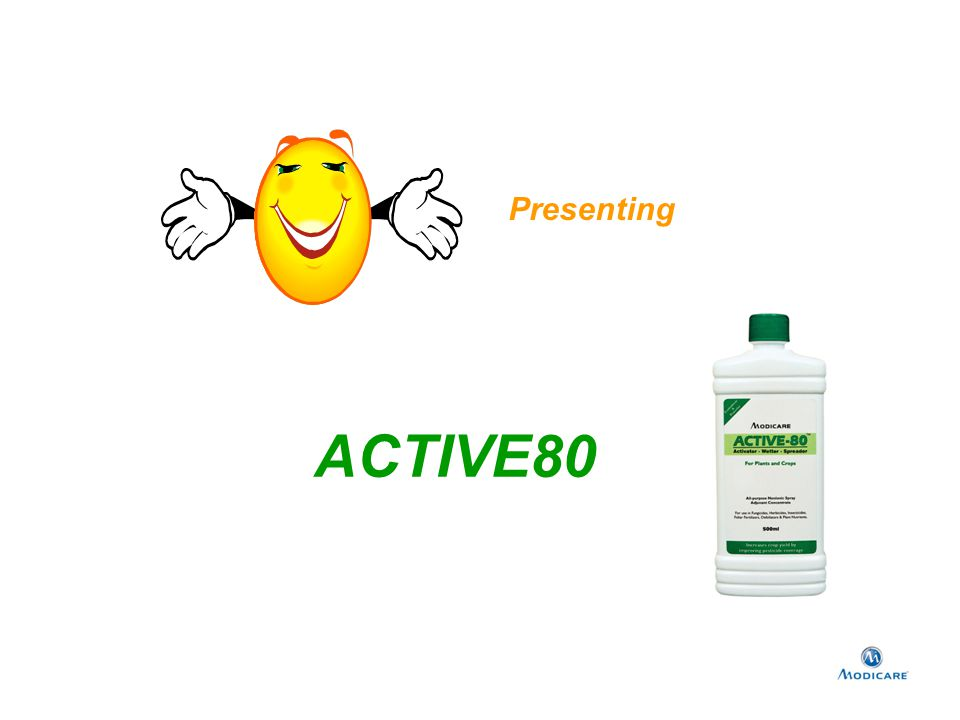 Active80 is Activator, Wetter and Spreader It increases the performance and effectiveness of pesticides.