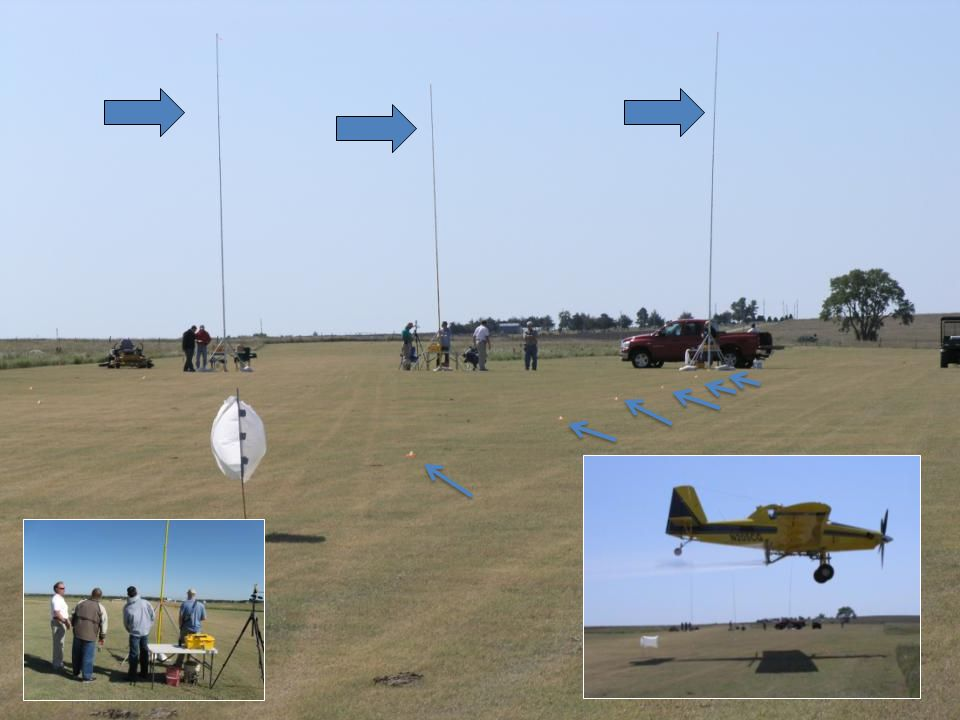 Materials and Methods (2008): AT 502A (Rucker Flying Service) – Drop booms – CP-11TT #15 straight stream nozzles w/8° deflection – 44 PSI – 156 mph gr