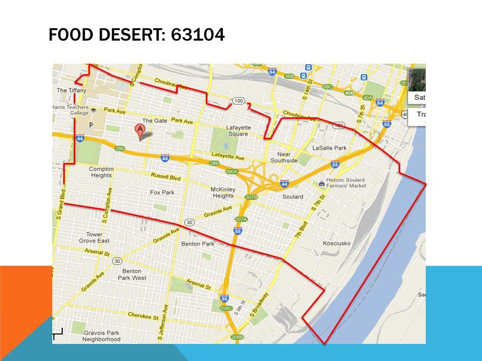 FOOD DESERT: 63104