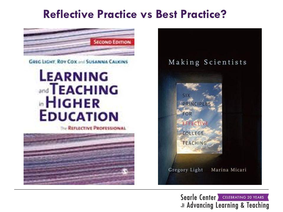 Reflective Practice vs Best Practice