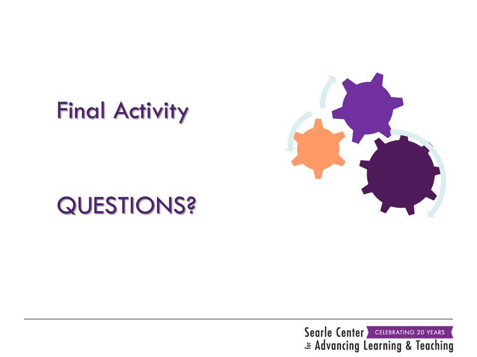 Final Activity QUESTIONS