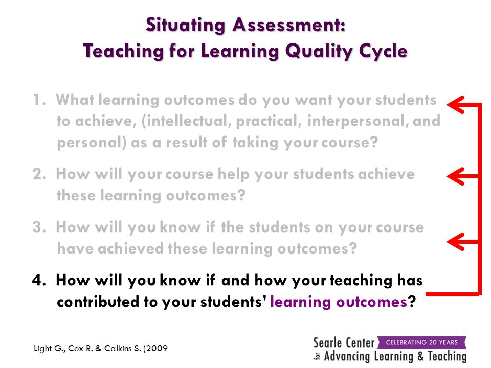 1. What learning outcomes do you want your students to achieve, (intellectual, practical, interpersonal, and personal) as a result of taking your cour