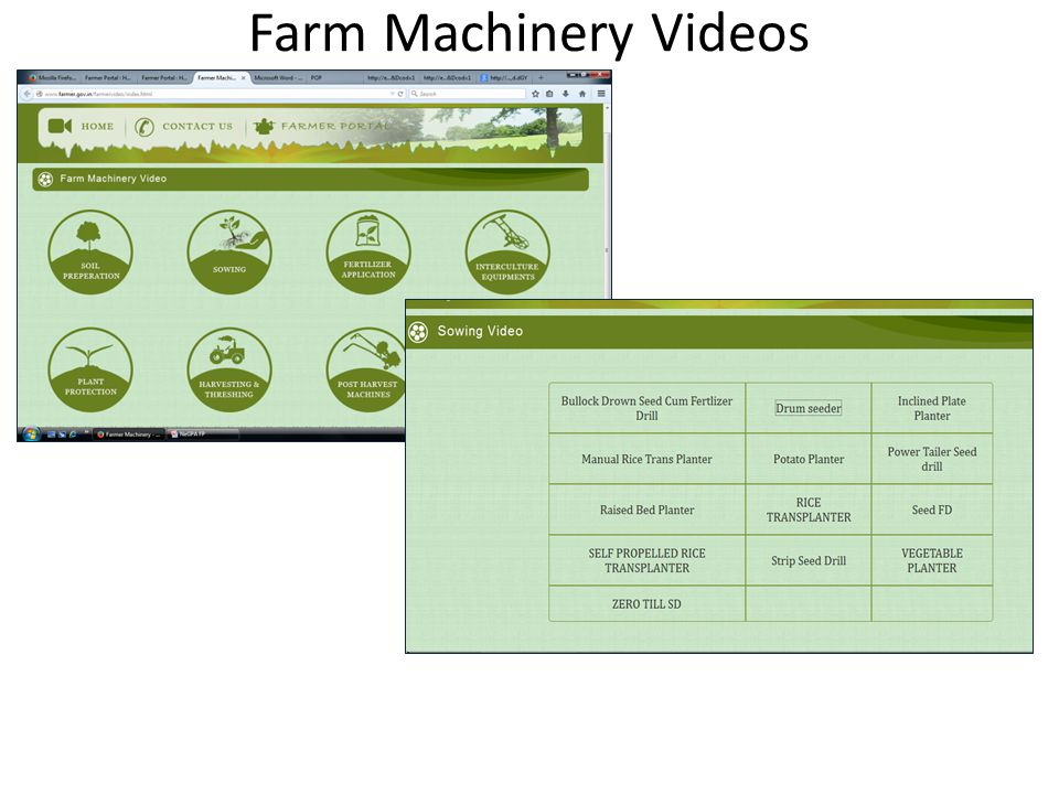Farm Machinery Videos