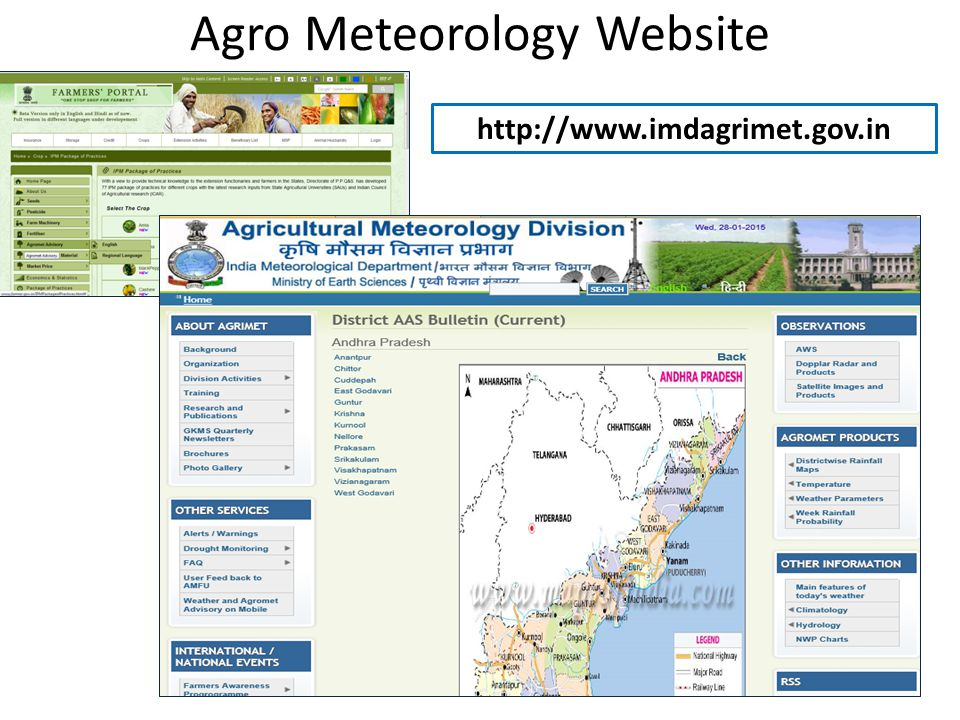 Agro Meteorology Website http://www.imdagrimet.gov.in