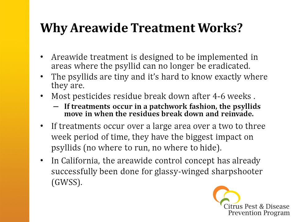 Why Areawide Treatment Works.