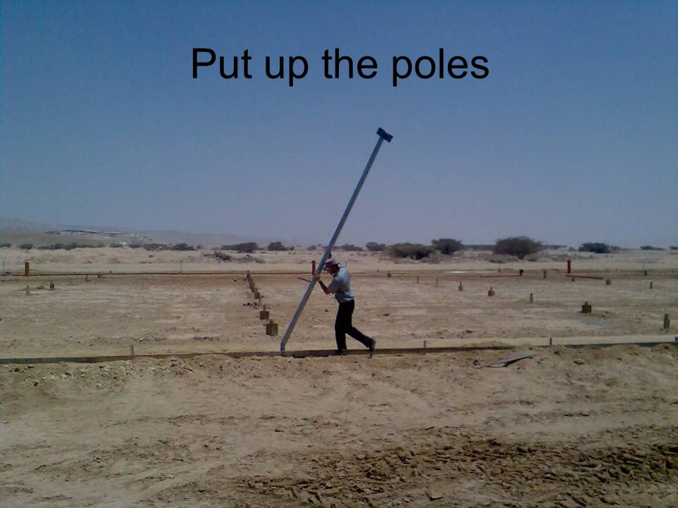 Put up the poles