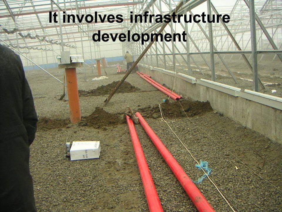 It involves infrastructure development